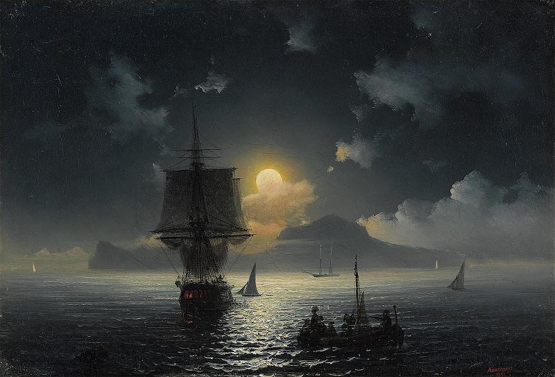 Лунная ночь на Капри. 1841. Холст, масло. 26 х 38,5 / Государственная Третьяковская галерея