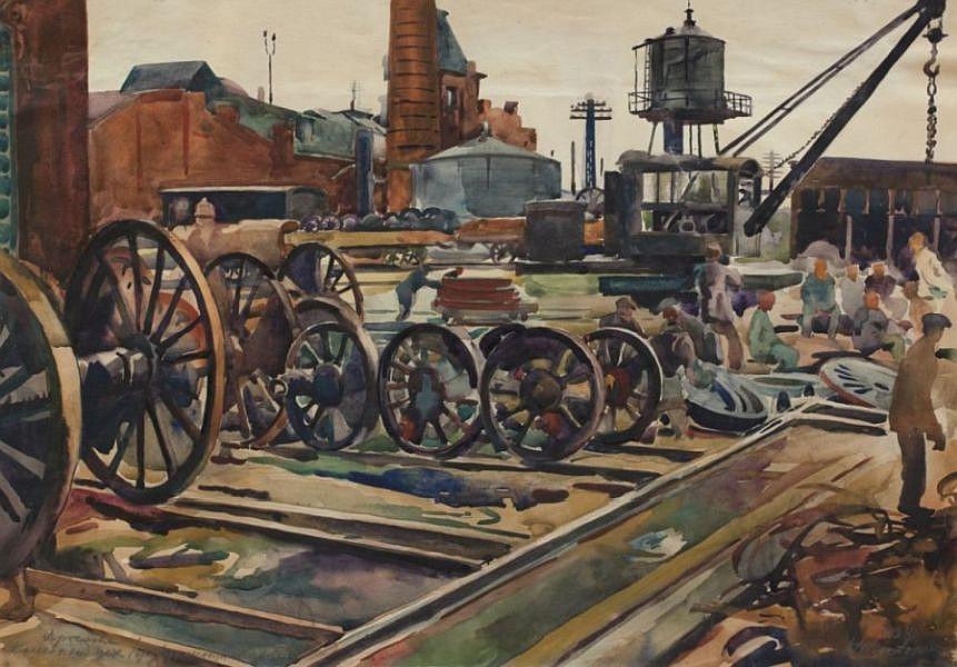 Николай Шестопалов. Ярославль. Ремонтный завод. 1938