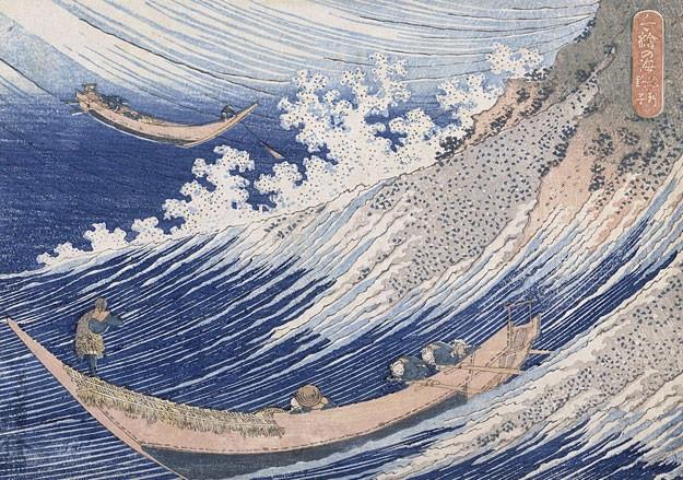 В 1830-е гг. Хокусай писал океанские пейзажи