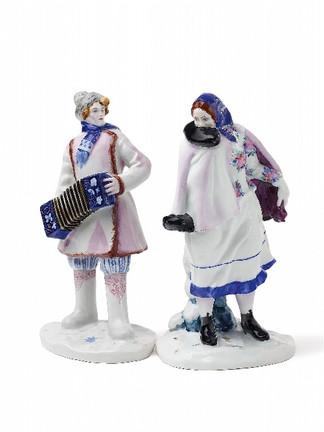 Русские фарфоровые фигурки на аукционе в Берлине