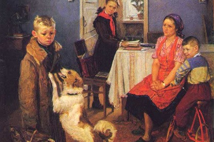 Фрагмент картины Федора Решетникова «Опять двойка» Изображение: Wikipedia.org