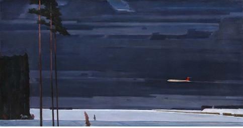 Георгий Нисский. Над снегами. 1964. Холст, масло. Институт русского реалистического искусства