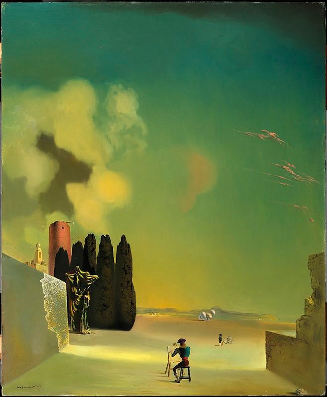 Сальвадор Дали. «Пейзаж с загадочными элементами». 1934. Фонд «Гала — Сальвадор Дали»