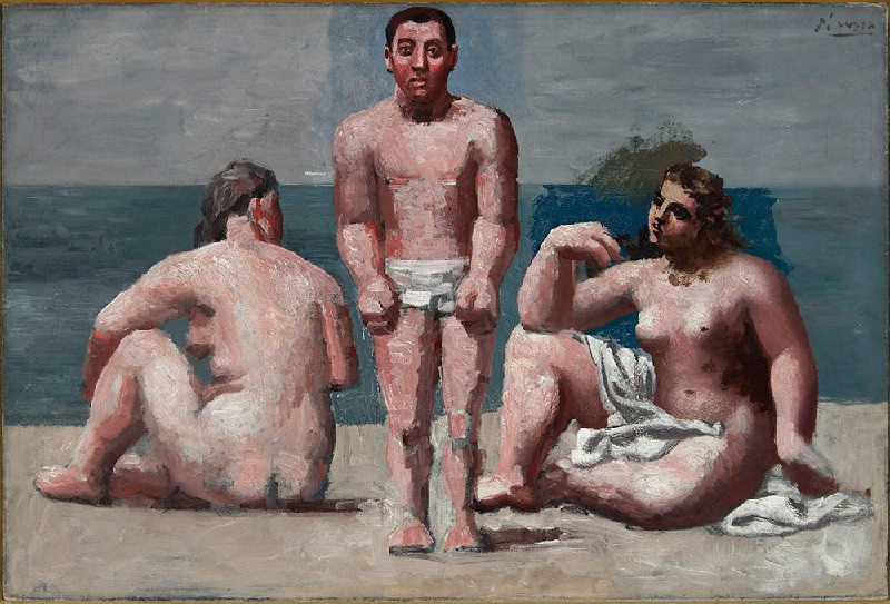 Пабло Пикассо. Купальщик и купальщицы. 1920-1921. Коллекция Давида Нахмада, Монако