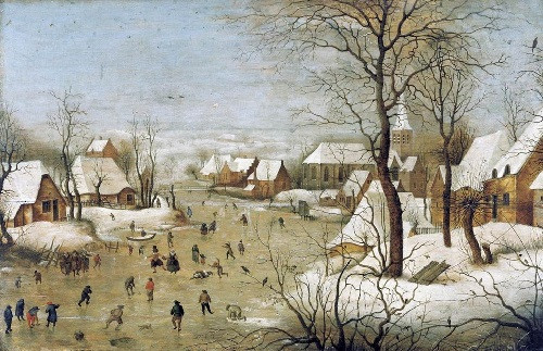 Питер Брейгель Старший «Зимний пейзаж с ловушкой для птиц». Брюссель, Королевский музей изящных искусств