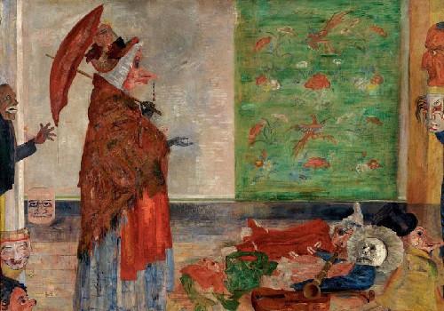 Джеймс Энсор, «Удивление маски Воузе». Антверпен, Королевский Музей Изящных Искусств