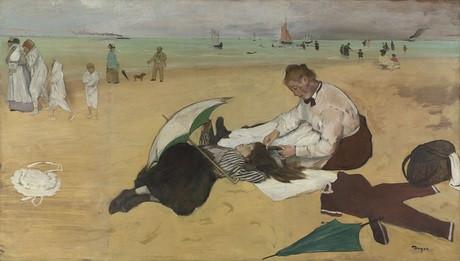 Одна из картин — предметов спора. Эдгар Дега. Сцена на пляже. Холст, масло. 1869–1870. Национальная галерея, Лондон