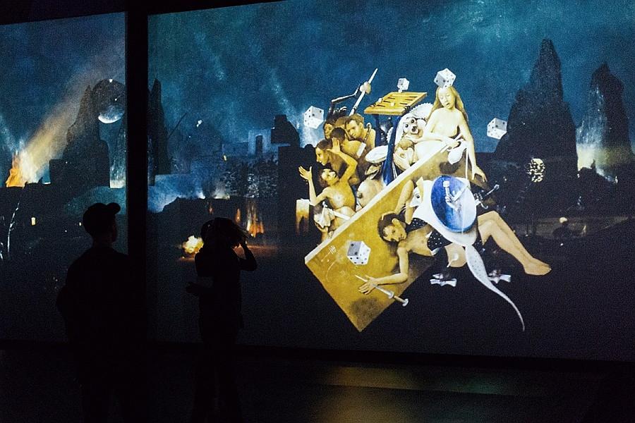 """Мультимедийная выставка """"Босх. Ожившие видения"""", в центре Artplay."""