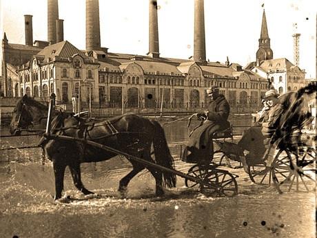 Вид на Трамвайную электростанцию. Начало ХХ века. Источник:www.mosenergo-museum.ru
