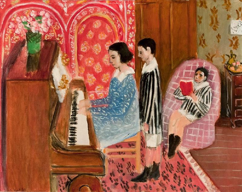 Анри Матисс. Урок игры на пианино. 1923. Succession H. Matisse