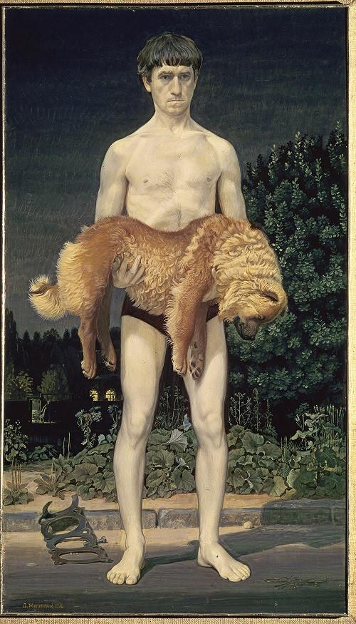 Дмитрий Жилинский. Человек с убитой собакой. 1976. Фото: ГТГ