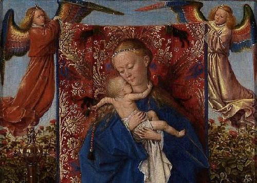 Фото: Картина Яна Ван Эйка «Мадонна с младенцем у фонтана»