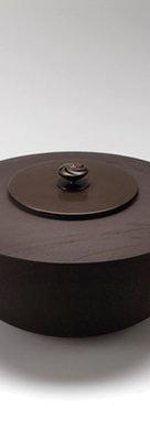三代畠春斎❘2012日本伝統工芸展|流水文平釜|Flat-to style tea ceremony kettle with stream design