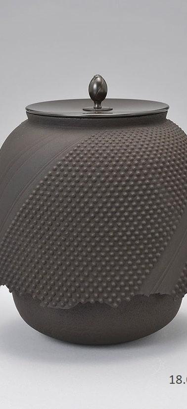 三代畠春斎❘2017日本伝統工芸富山展|十王口尾垂釜|Odare tea ceremony kettle with juo lip