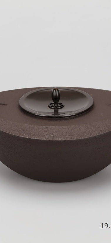 三代畠春斎❘2018日本伝統工芸展❘舟形釜❘Boat-shaped tea ceremony kettle