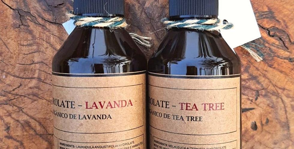 Combo Especial 2 Águas Florais orgânicas 250 ml- Lavanda e Tea Tree/ Melaleuca