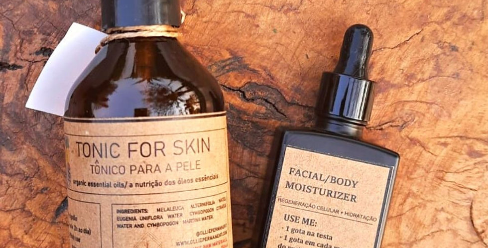 Combo Especial Tonic for Skin e Facial/ Body Moisturizer
