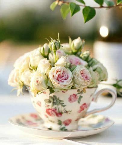 Fresh Florals in Teacup