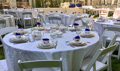 tablescape setup for teaparty