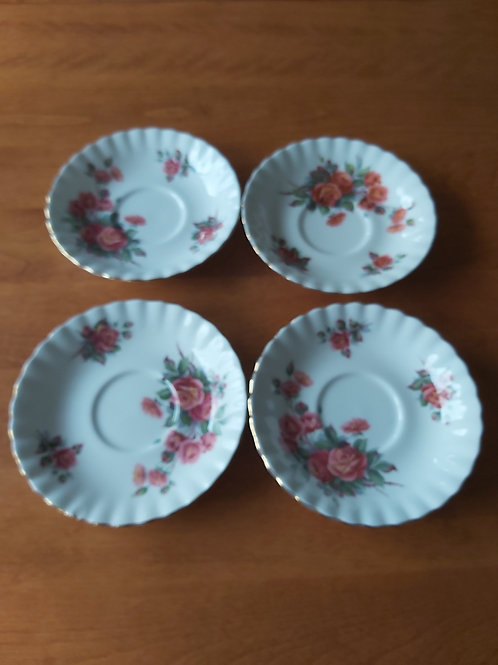 Royal Albert Centennial Rose 4 saucers