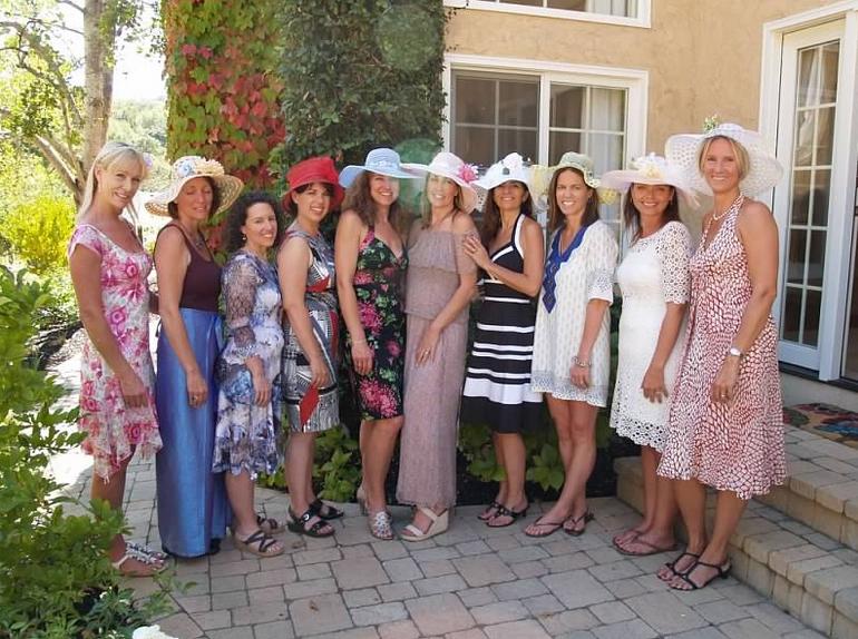 ladies wearing vintage hats