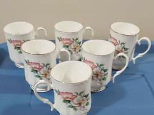 Bone China Mug set of 6