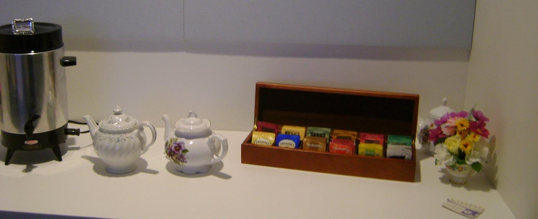 Buffet style tea station