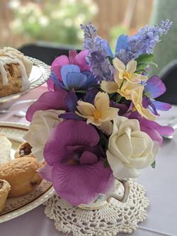 Floral Teacup & Doilley