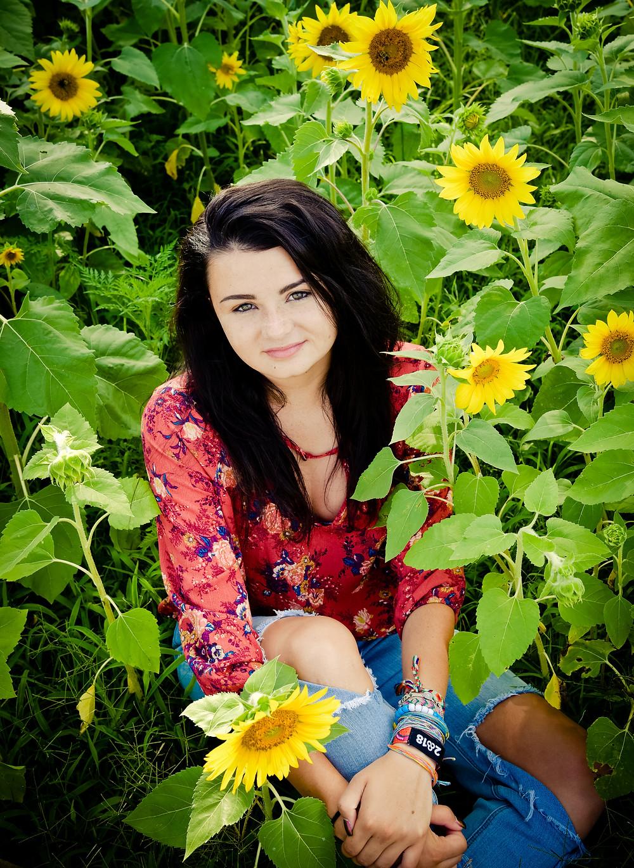 Senior Portrait Sunflowers