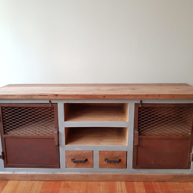 Mueble de TV gris 'Mountain'