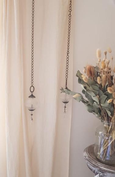Correcortinas, esferas de vidrio