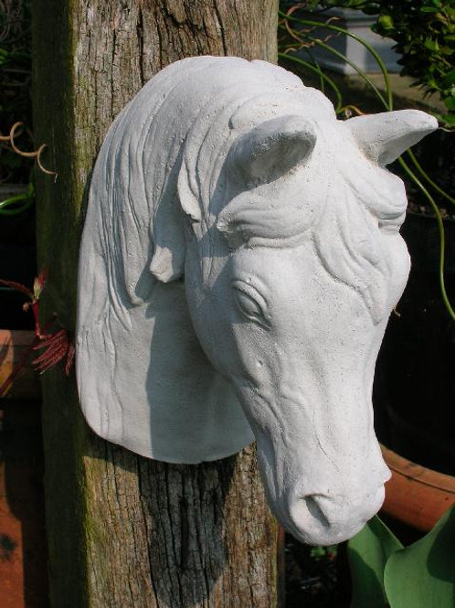 Garden Stables Gatepost Concrete HORSE'S HEAD