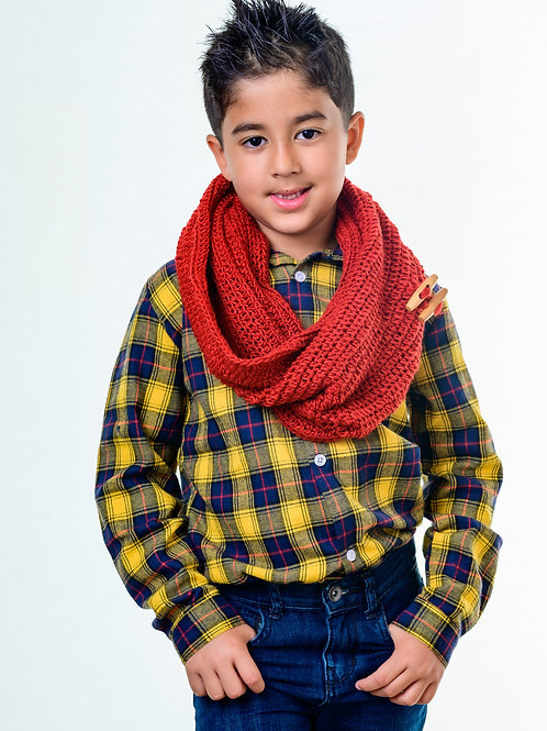 Kid's Red Infinity Scarf
