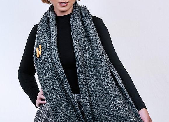 Oversize Grey Infinity Scarf