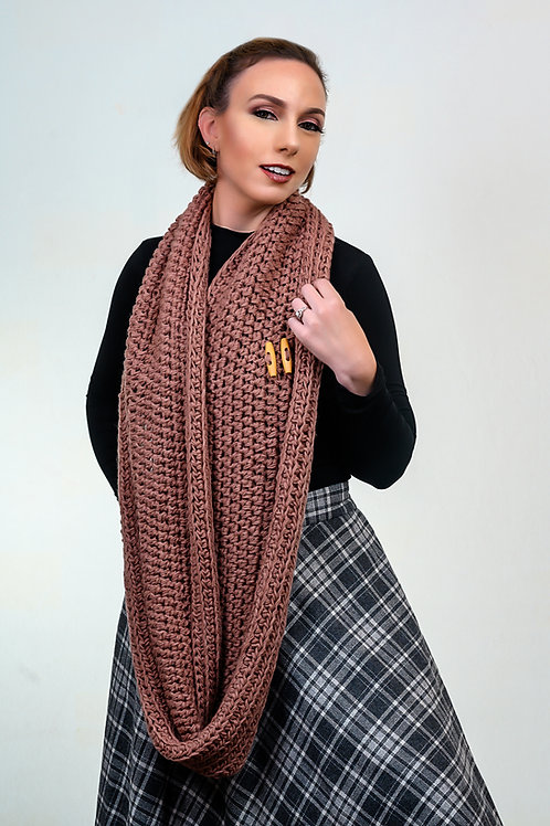Oversize Rose Dust Infinity Scarf