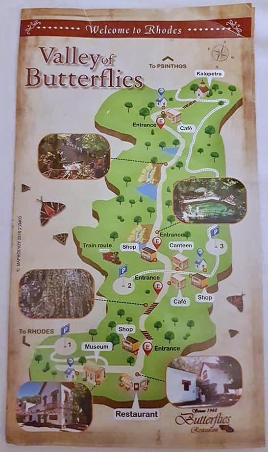 המפה של הפארק