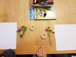 פרחים וגירים