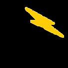 Copy of Black, White and Yellow Lightnin