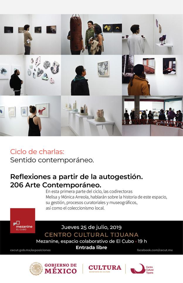 25 de julio a las 7pm en el CECUT. Ciclo de charlas: sentido contemporáneo.