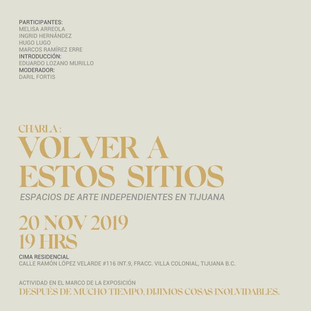 20 de noviembre a las 7:00 pm en CIMA Residencial