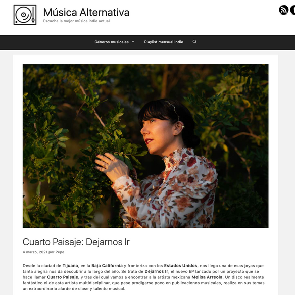 Reseña by Música Alternativa Blog.
