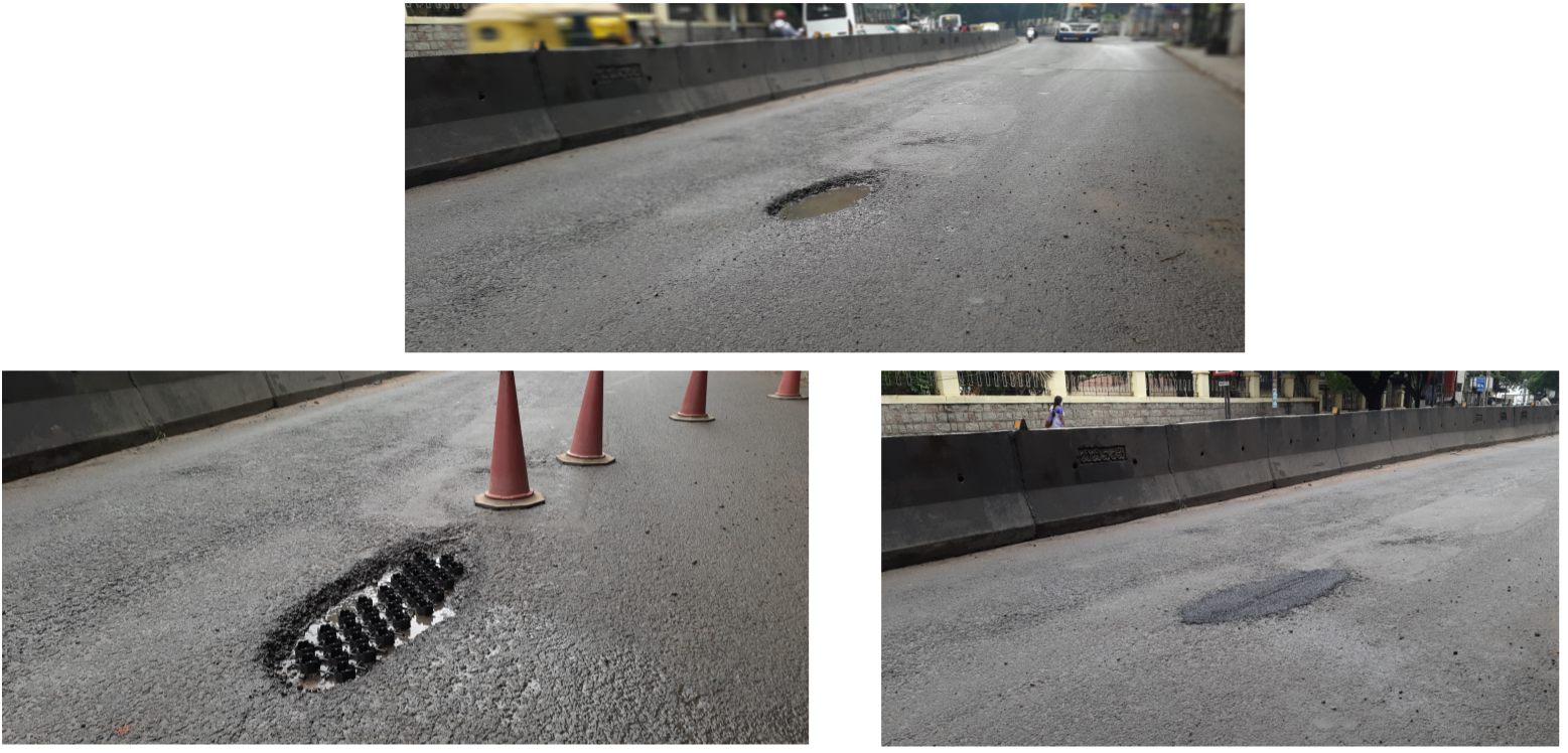 Pothole fix using GridMats