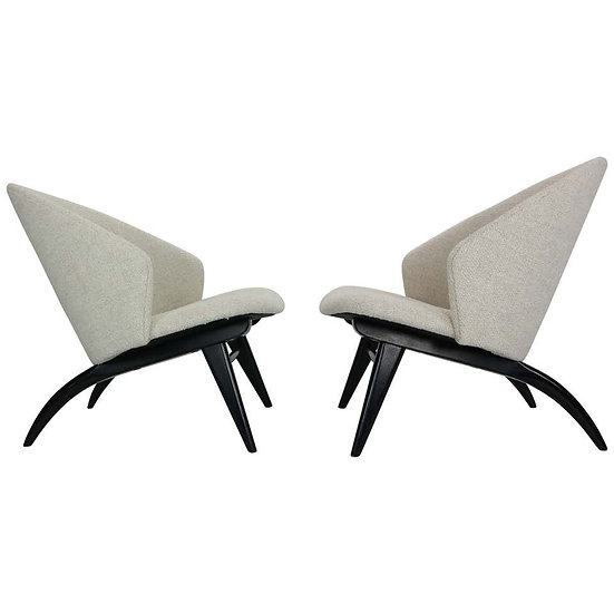Theo Ruth Set of Two Lounge Chairs for Artifort, 1950s