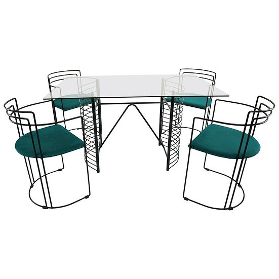 Mid- Century Modern Minimalist Design Dining Room Set, 1970s