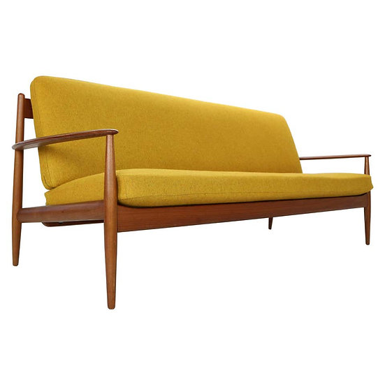 Grete Jalk Scandinavian Modern Teak Sofa for France & Son, Denmark, 1960s