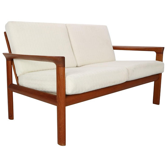 "Danish Teak Two-Seat Sofa ""Borneo"" by Sven Ellekaer for Komfort, 1960s"