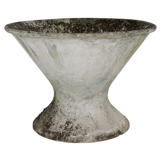 Willy Guhl Industrial Goblet Shaped Hourglass Planter, 1950s, Switzerland