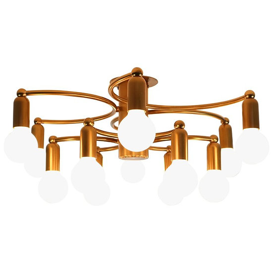 Vintage Modern Golden Color Ceiling Lamp, 1970s