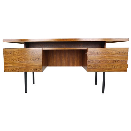 Mid-Century Modern Rosewood Writing Table Desk by Leo Bub for Wertmöbel, 1960s