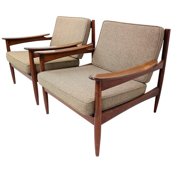 Danish Rosewood Mid-Century Armchairs by Unknown Designer for Lifa